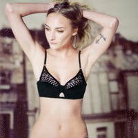 Padded Lace Bra   Black   & Other Stories