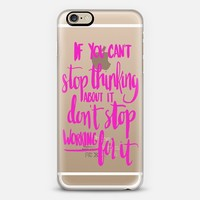 Can't Stop Don't Stop (pink) iPhone 6 case by Glitter & Bold   Casetify