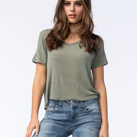 FULL TILT Oh So Easy Womens Tee | Knit Tops & Tees