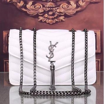 YSL Fashion Leather Chain Crossbody Shoulder Bag Satchel