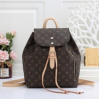 Louis Vuitton LV large-capacity fashion all-match backpack bag