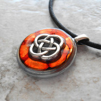 celtic knot necklace desert - mens jewelry - mens necklace - celtic jewelry - boyfriend gift - irish jewelry - unique gift - fathers day