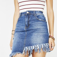Feel The Love Denim Skirt