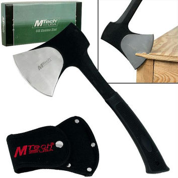 MTech  USA Traditional Stainless Steel Camping Axe - Black