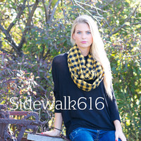 Black and Yellow Flannel Scarf