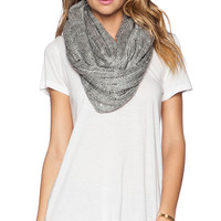 Michael Stars Sequin and Shine Eternity Scarf in Gray