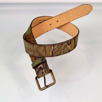 Camo Belt Torel Texas Mens Size 32- 36 Made In USA Hunting Fishing