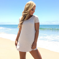 See You Later Tunic & Dress In Oatmeal