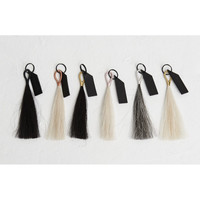Wire Wrapped Horse Hair Tassel Key Chain