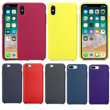 Have LOGO Original office Silicone Case For Apple iphone 7 Phone Cover For iPhone 6 6s Plus for iPhone X 8 with retail box