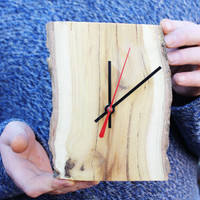 Wall clock - made from cherry tree - eco-clock - country style - rustic style - Unique wall clock -