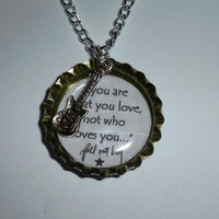 Fall Out Boy Lyric Bottlecap Pendant Necklace - 7 DESIGNS AVAILABLE