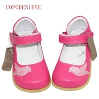 COPODENIEVE The girl Shoes Genuine Leather Children's Shoe Genuine leather  Kids Casual Flats Sneakers Toddler Boys Shoes  bird