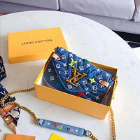 Louis Vuitton LV Women Shopping Chain Crossbody Satchel Shoulder Bag