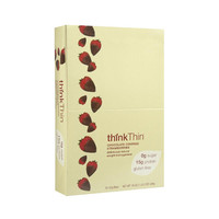 Think Products Thin Bar - Chocolate Covered Strawberry - Case of 10 - 1.76 oz