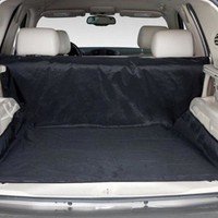 """New Design Dual-use Black 59""""x47"""" Waterproof Oxford Auto Car Trunk Mat Back Seat Cover For Pet Dog"""