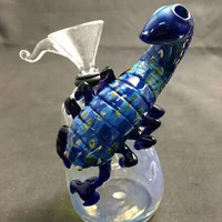 Hand blown small animal bubbler scorpin design glass bubbler shark bubbler octopus bubbler glass water pipe 4.5 inch. hookahs