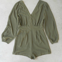 By the Bay Romper in Forest [5235] - $42.00 : Vintage Inspired Clothing & Affordable Dresses, deloom   Modern. Vintage. Crafted.