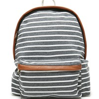 LA Hearts Jersey Stripe School Backpack - Womens Backpack