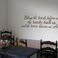 Bless this food, family, love Amen Vinyl Wall Art Decal