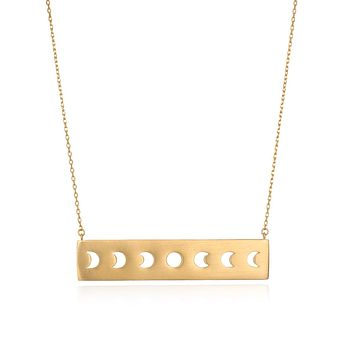 Moon Phase Statement Necklace