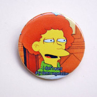 "The Simpsons - Todd Flanders vegetables meme 1.15"" pinback button badge from Stickerama"