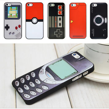 Gadget Pattern Case Cover for iPhone (4 4S, 5 5S)