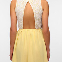 One & Only x Urban Renewal Lace Open Back Dress