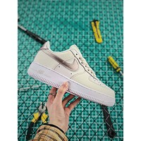 Nike Air Force 1 07 Af1 Low White Silver Fashion Shoes
