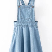 Blue Pleated Denim Skirt Jumper