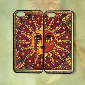 August Sun Couple Case-iPhone 5 case, iphone 4scase, 4 case,ipod touch 5  Samsung GS3-Silicone Rubber or Hard Plastic Case, Phone cover