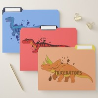 Triceratops and Friends File Folder