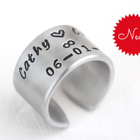 Couples Infinity Knot Cuff Ring