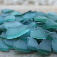 Dark Teal - Emerald Beach Glass Bulk Sea Glass For Sale