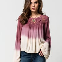 PATRONS OF PEACE Womens Ombre Top | Blouses