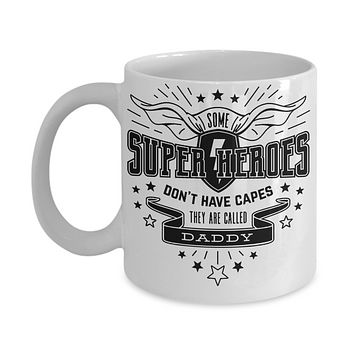 Funny father's day Coffee Mug super heroes tea cup gift dads fathers grandpas appreciation