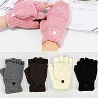 5 Colors Hot Fashion Women's Ladies Hand Wrist Warmer Winter Fingerless Gloves = 1929573316