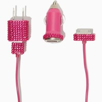 Powerful Sparkle iPhone 4/4s Charger Set | Tech Accessories | charming charlie
