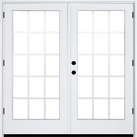 MP Doors 72 in. x 80 in. Fiberglass Smooth White Left-Hand Outswing Hinged Patio Door 10-Lite GBG-HT6068L002W2 - The Home Depot