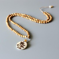 Artisan Design Natural Wood Necklace