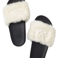 Faux Fur Slides - PINK - Victoria's Secret