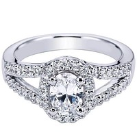 "Ben Garelick Royal Celebrations ""Vita"" Oval Cut Diamond Halo Engagement Ring"