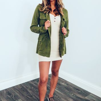Fall Evenings Jacket: Olive