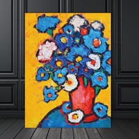 Poster Picture Wall art  abstract flower Canvas Painting decor poster  painting Wall art art prints on Picture home decor