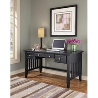 Home Styles Furniture 5181-15 Arts and Crafts Black Executive Desk