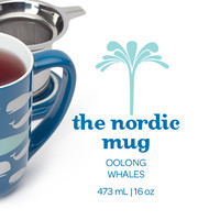 Colour Changing Whales Nordic Mug - The Whales On This Mug Change Colour When You Add Hot Water | DavidsTea