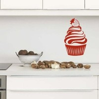 Wall Vinyl Sticker Decal Art Design Cute Cupcake Cafe Kitchen Room Nice Picture Decor Hall Wall Chu180