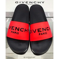 Givenchy Trending Classic Slippers Women Men Letters Sandals Red