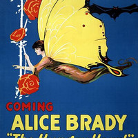 Alice Brady Hungry Heart 1917 Vintage Movie Poster