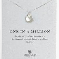Women's Dogeared 'One in a Million' Boxed Keshi Pearl Necklace